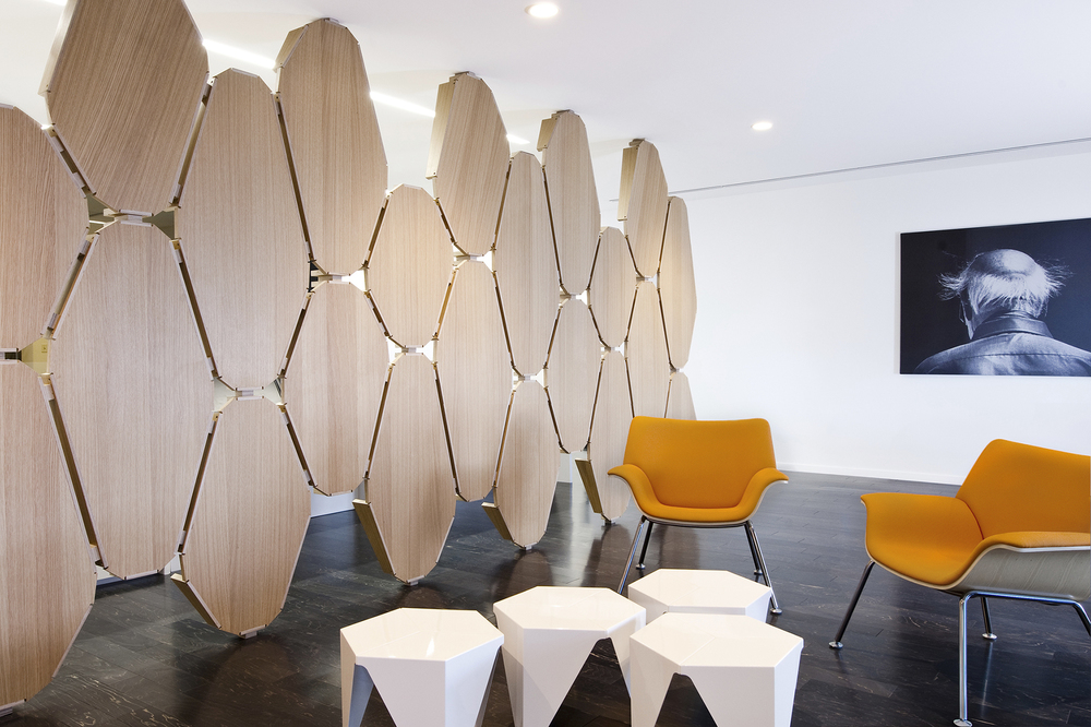 The reception area in the Arup Office in Edison, NJ