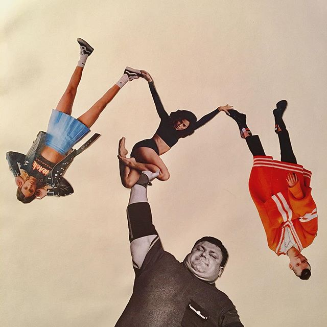 This Wasteful, Violent and Precarious System is Upheld by White Men and Their Arms are Starting to Get Tired  #collage
