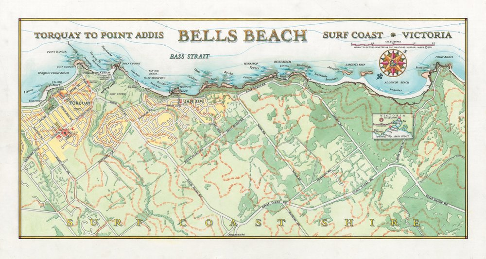 Bells Beach Surf Map