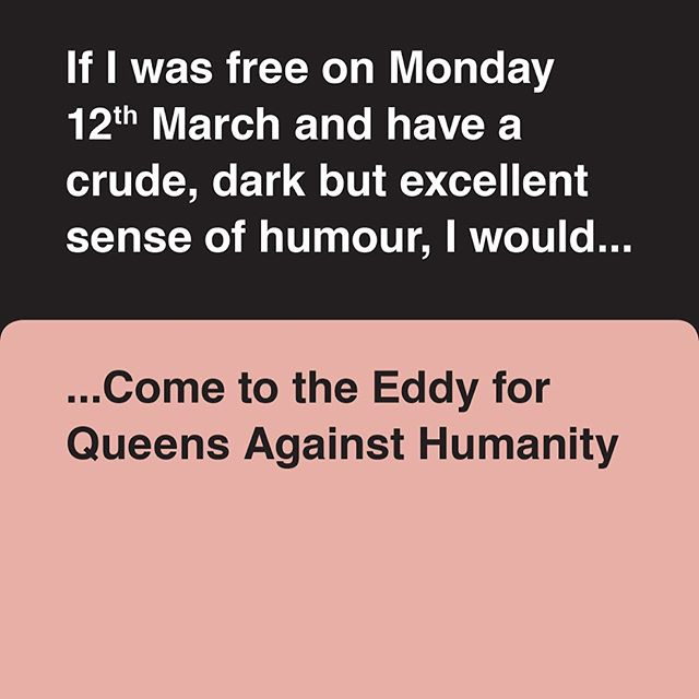 Finally, a social event where you can be offensive. #sorrynotsorry #TheEddy