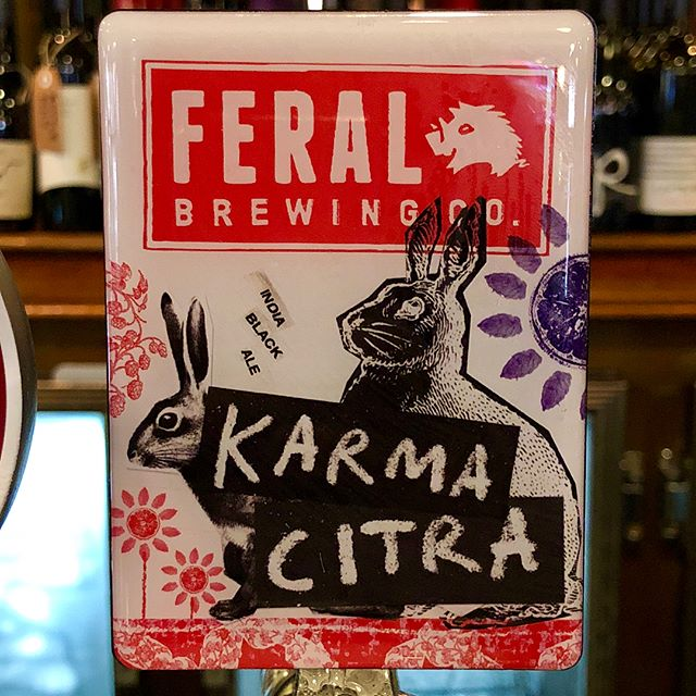 Who said adults can't enjoy Easter? @feralbrewing's Karma Citra has notes of cocoa and chocolate- plus there's bunnies on the decal.. 🐰😉✅ Eddy opening hours for Easter: Good Friday 12pm - 10pm Easter Saturday 12pm - 12pm Easter Sunday 12pm - 9pm  Easter Monday 12pm - 8pm