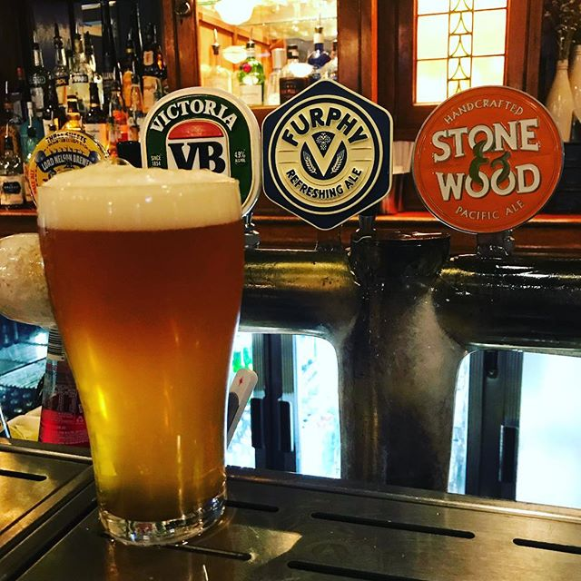 Furphy Refreshing Ale now pouring at the Eddy! #furphy #edinburghcastle
