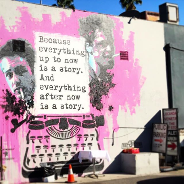 This is my story. . #mural #losangeles #storytime #inspiration #creative #pink #graphicdesign #graphicdesigner #quotes #saturdayvibes #splatter