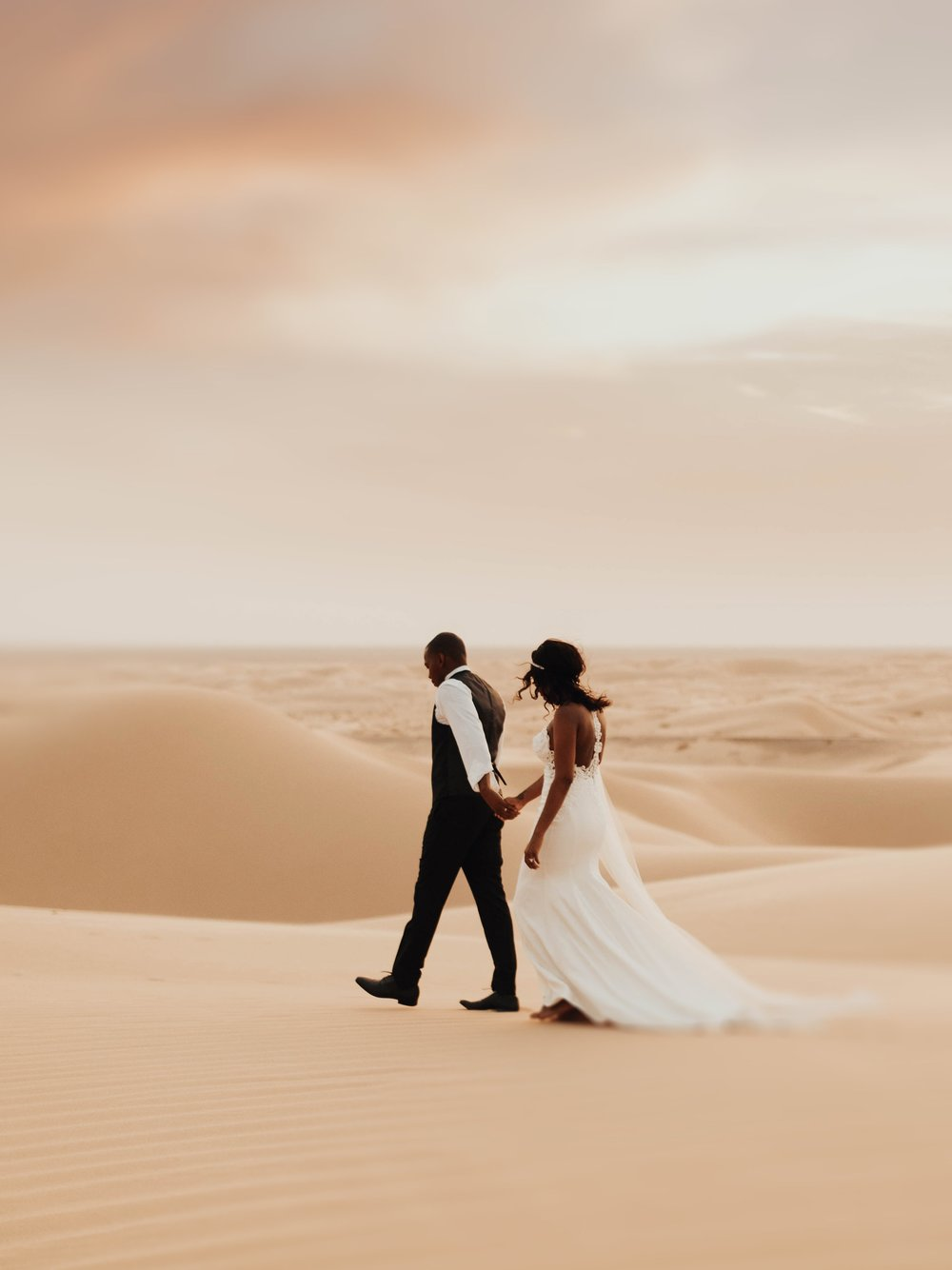Brittney & Mike   SUNSET DESERT BRIDALS