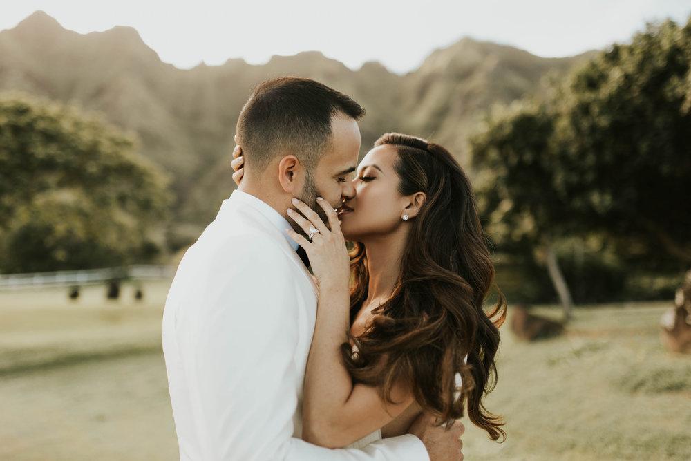 Jessi & Gabriel   Oceanfront Oahu bridals