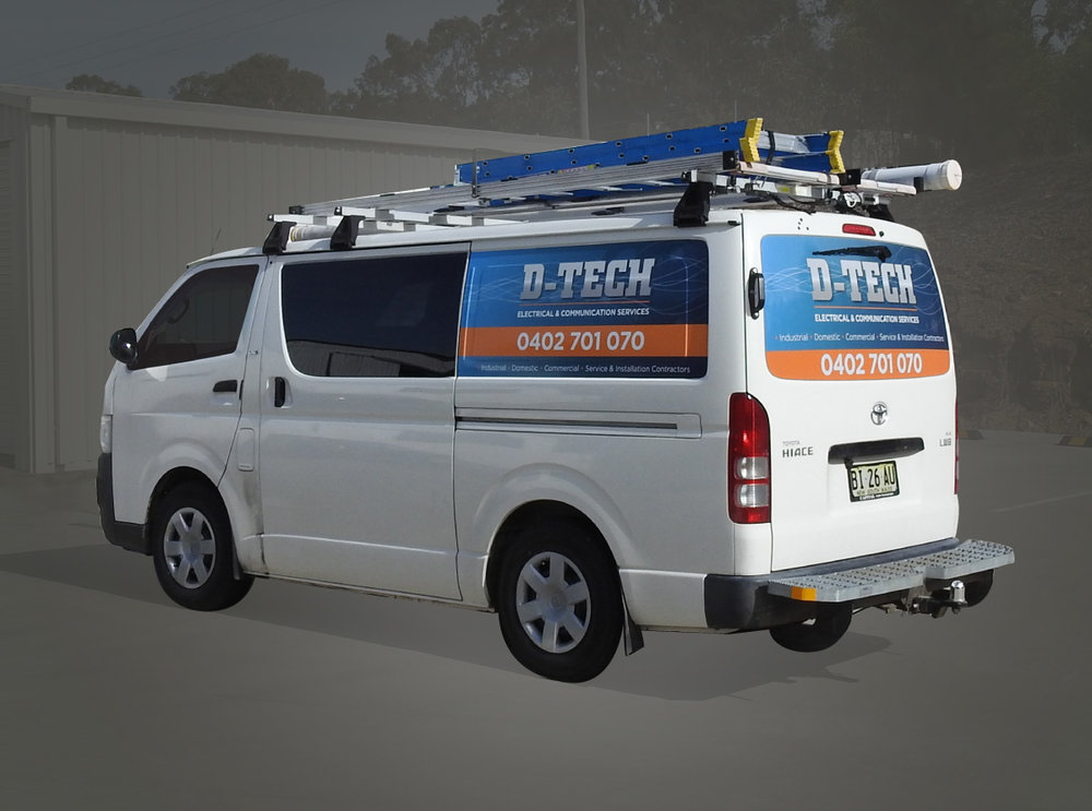 D - Tech Electrical van signage