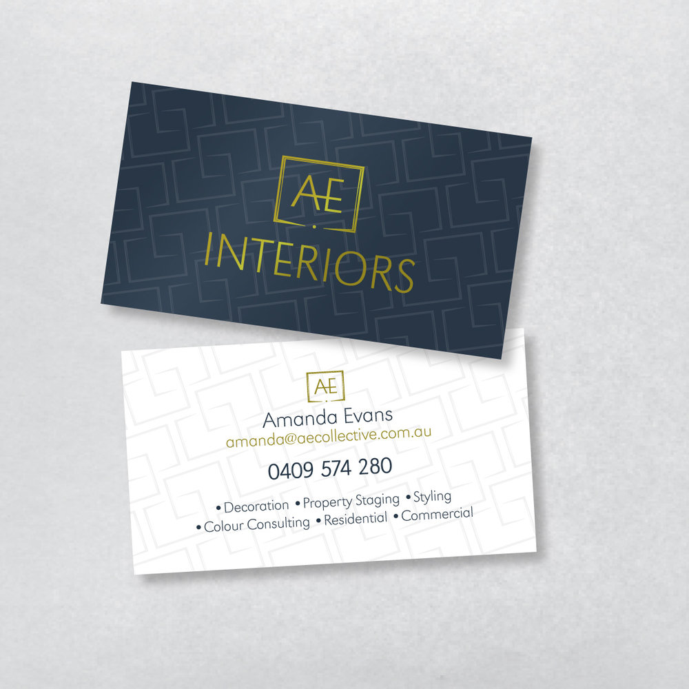 AE Interiors Business Cards