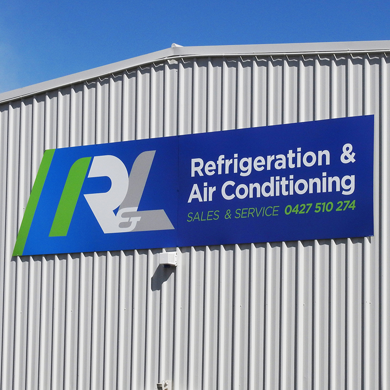 R and L logo design and new signage