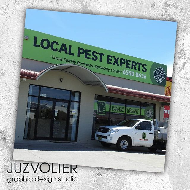 On the #website now - our recent  #logo & #signage project with the guys at Local Pest Experts! #juzvolter #graphicdesign #designer #portfolio #commercial #taree