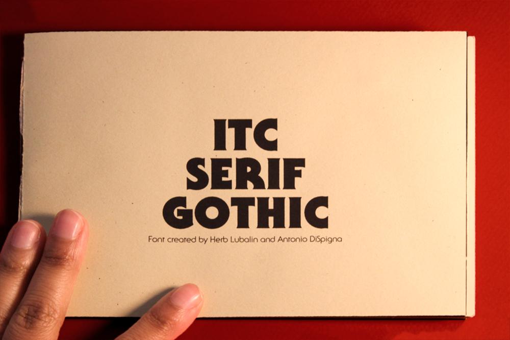 ITC Serif Gothic