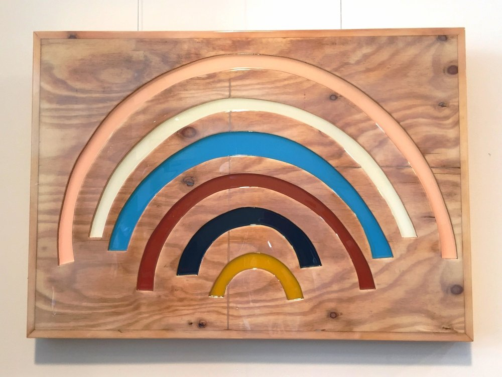 """ALL NATURAL, 2016   Resin on plywood.  30"""" x 40""""  $4800"""