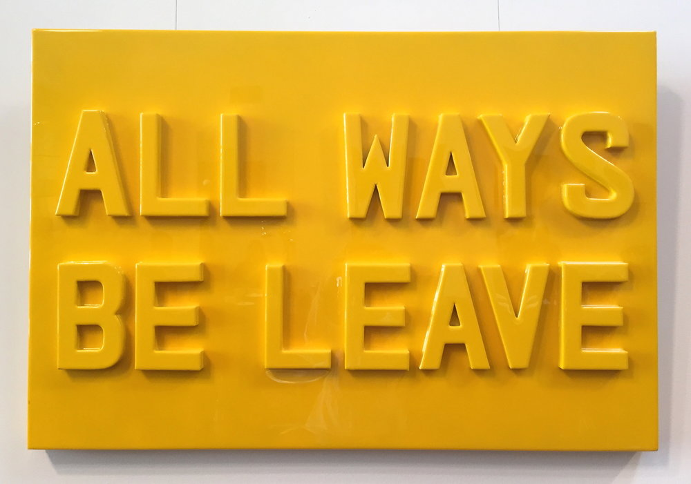"""ALL WAYS, 2016   Cardboard and resin on wood panel.  30"""" x 42""""  $4200"""