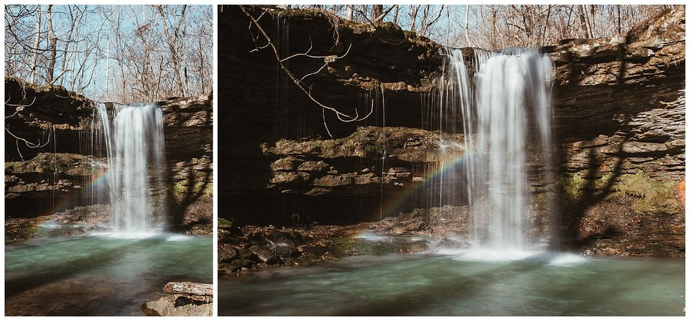 Amber Falls with a Rainbow