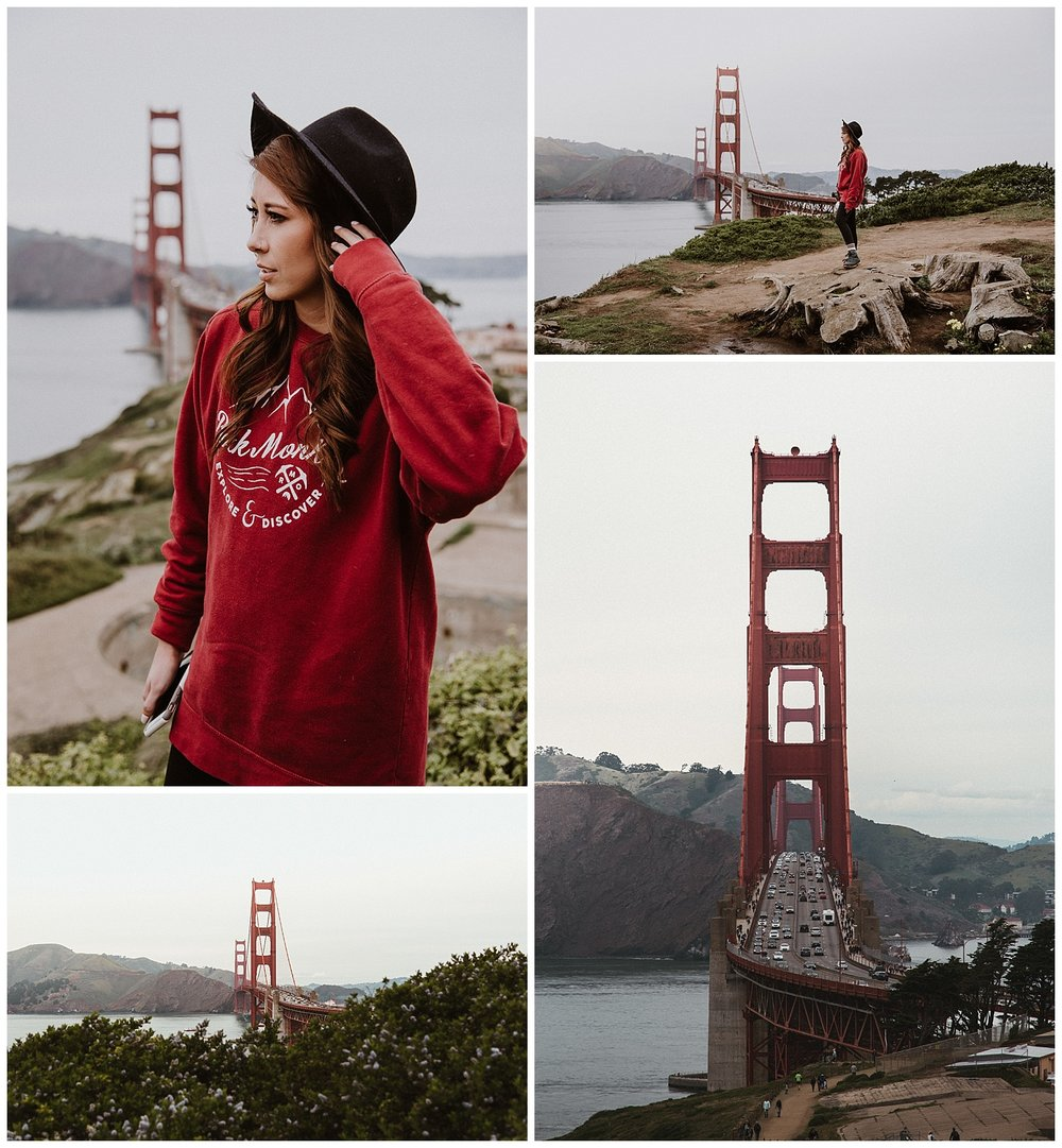 San Francisco // Golden Gate Overlook shot for Rock Monkey Outfitters