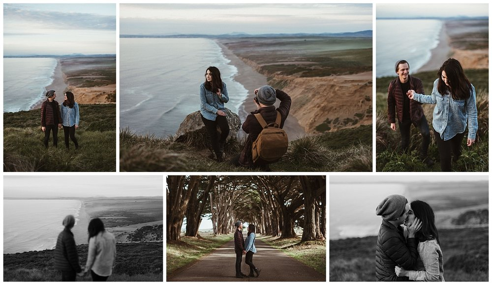Shooting Morgan & Shannon at the Cypress Tree Tunnel & North Beach Overlook at Point Reyes