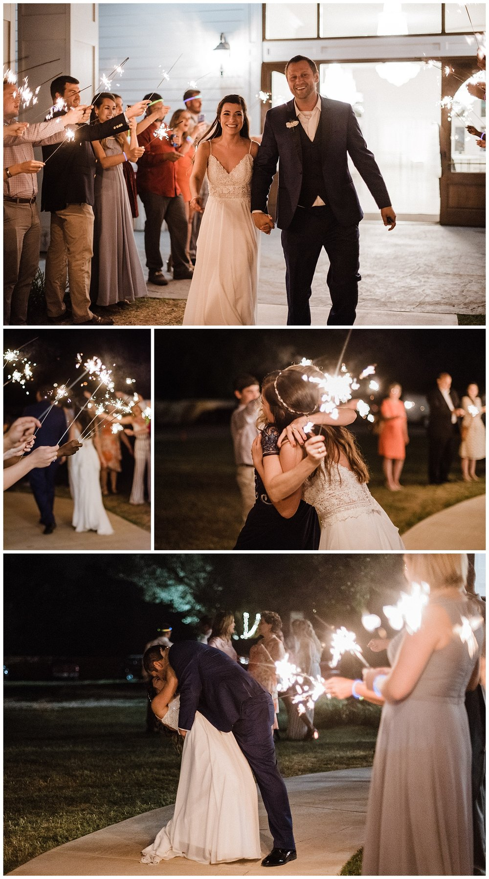 sparkler exit arkansas wedding photographer ballroom at I street