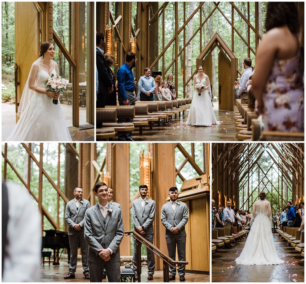 Anthony Chapel Wedding Ceremony Garvan Gardens