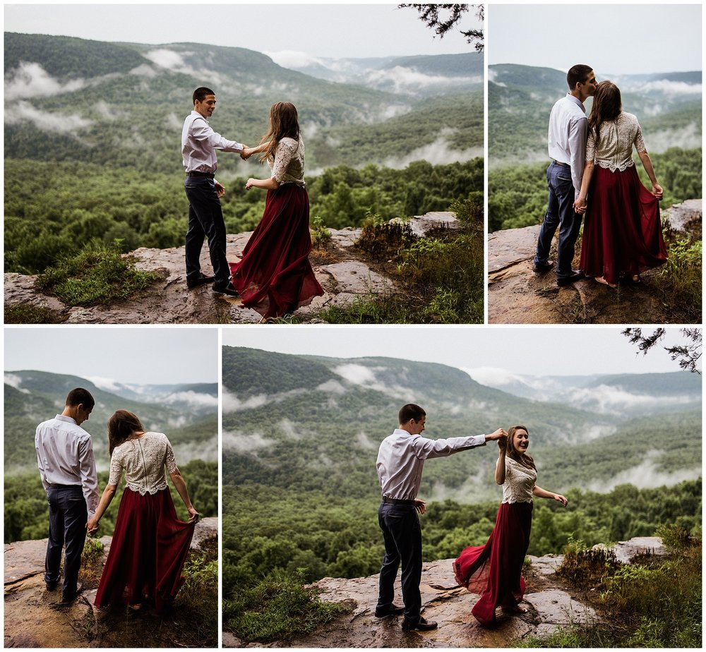 Misty Mountain Adventure Engagements by Tanner Burge 2