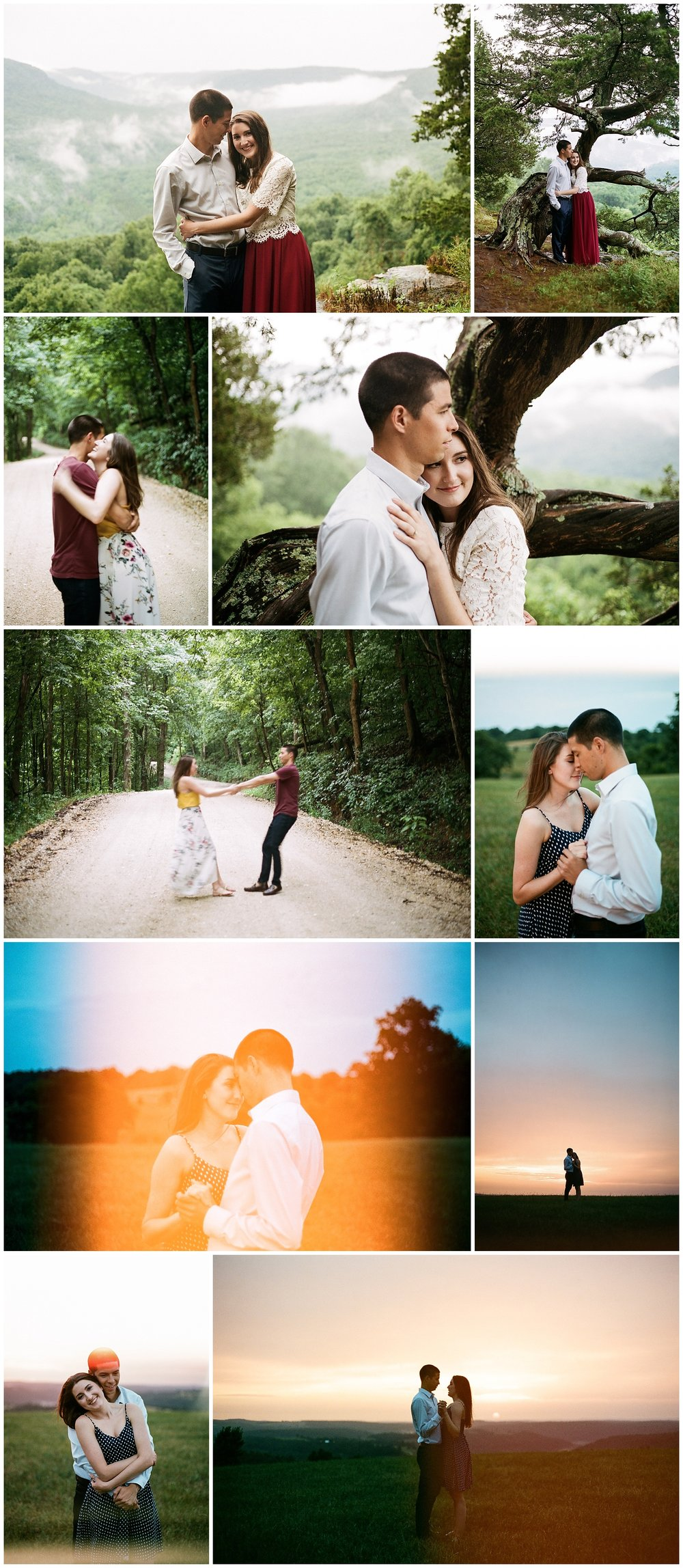 35mm Film Portra 400 Misty Mountain Adventure Engagements by Tanner Burge