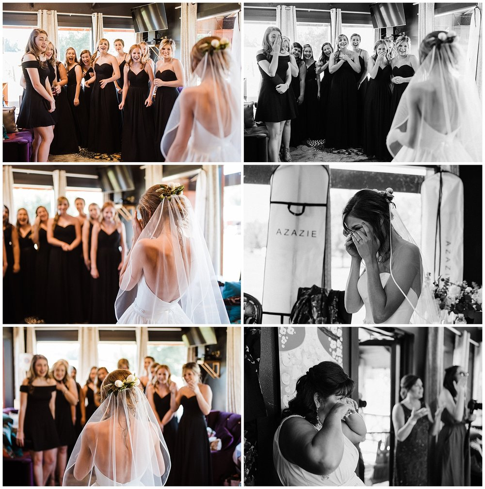 Tanner Burge Photo - Megan's Bridesmaid first-look