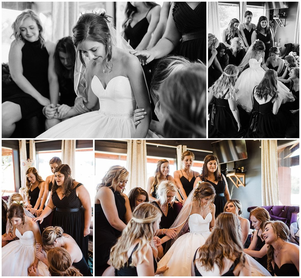Tanner Burge Photo - Girls praying over the bride