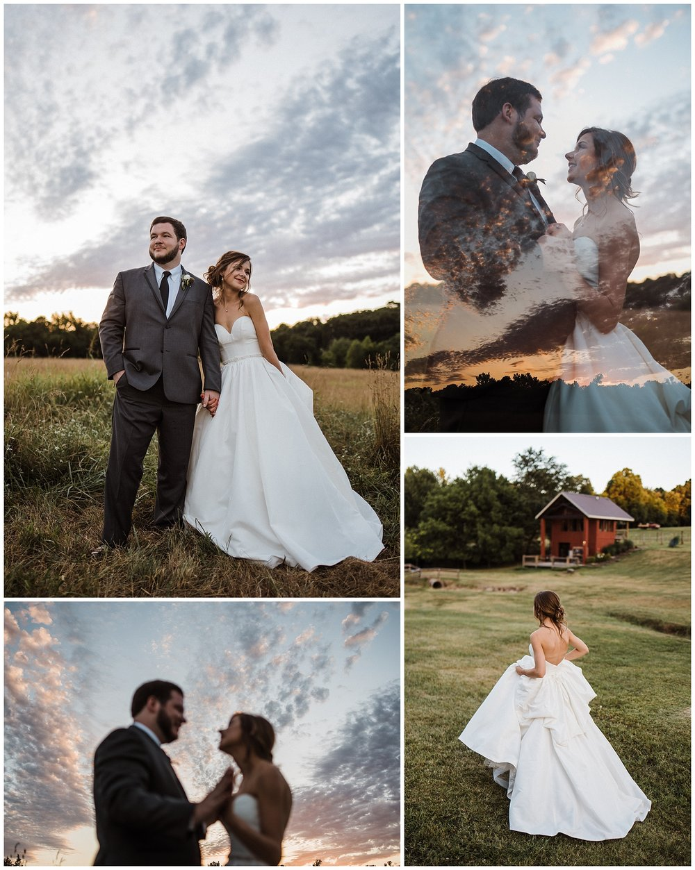 Tanner Burge Photo - Bride & Groom sunset photos with Megan & Blake