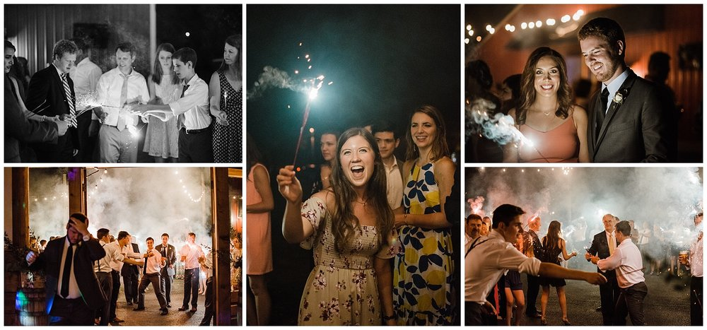 Tanner Burge Photo - Wedding guests for sparkler exits