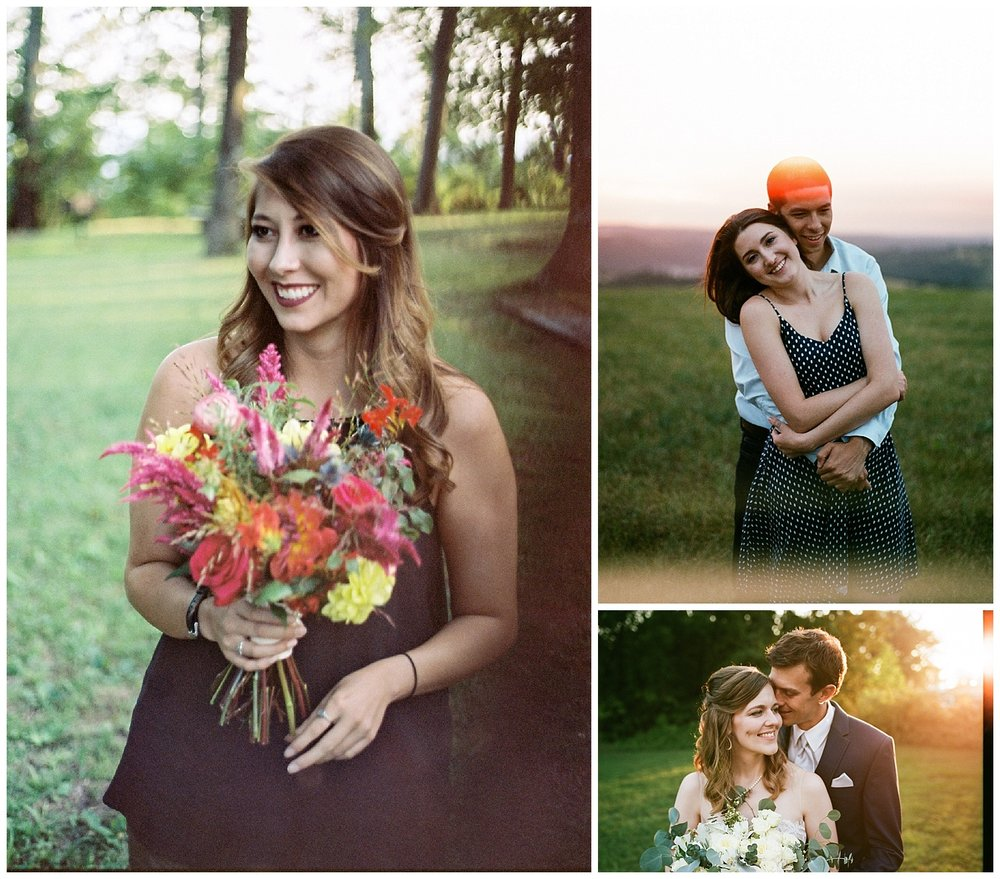 Left - Kodak Portra 160 - Canon AE-1 - 50mm 1.8 (this is the first photo I ever took of my wife back when we were just dating!) Top Right - Kodak Portra 400 - Canon AE-1 - 50mm 1.8 Bottom Right - Kodak Portra 400 - Nikon F100 - 35mm 1.8
