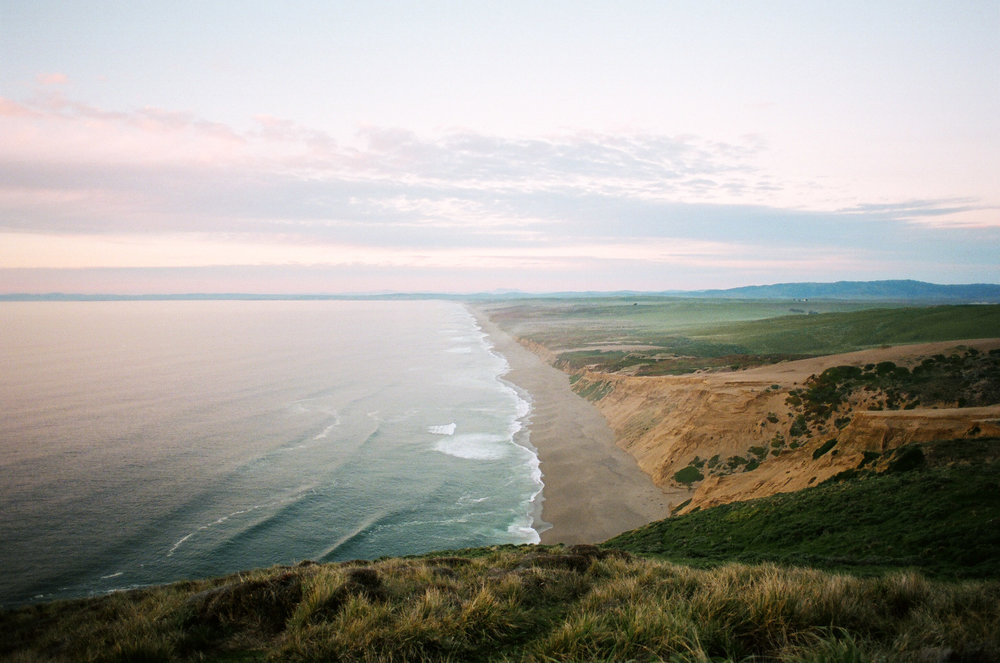 Portra 400 - Canon AE-1 - 24mm 2.8 Sunset at Point Reyes National Seashore in California