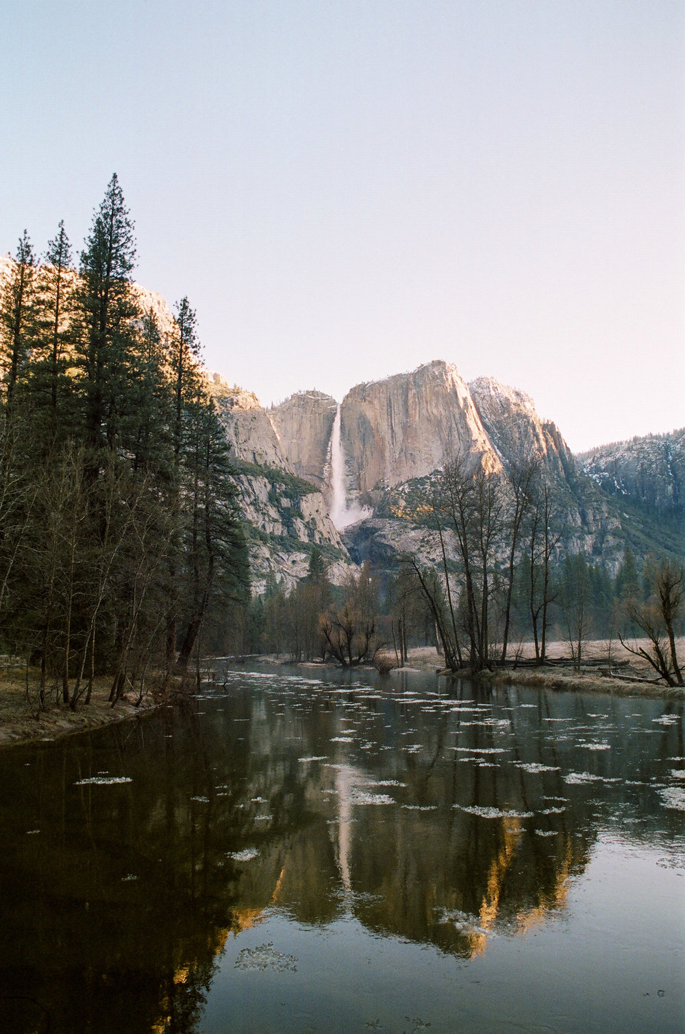Portra 400 - Canon AE-1 - 24mm 2.8 Yosemite Falls + the Merced River