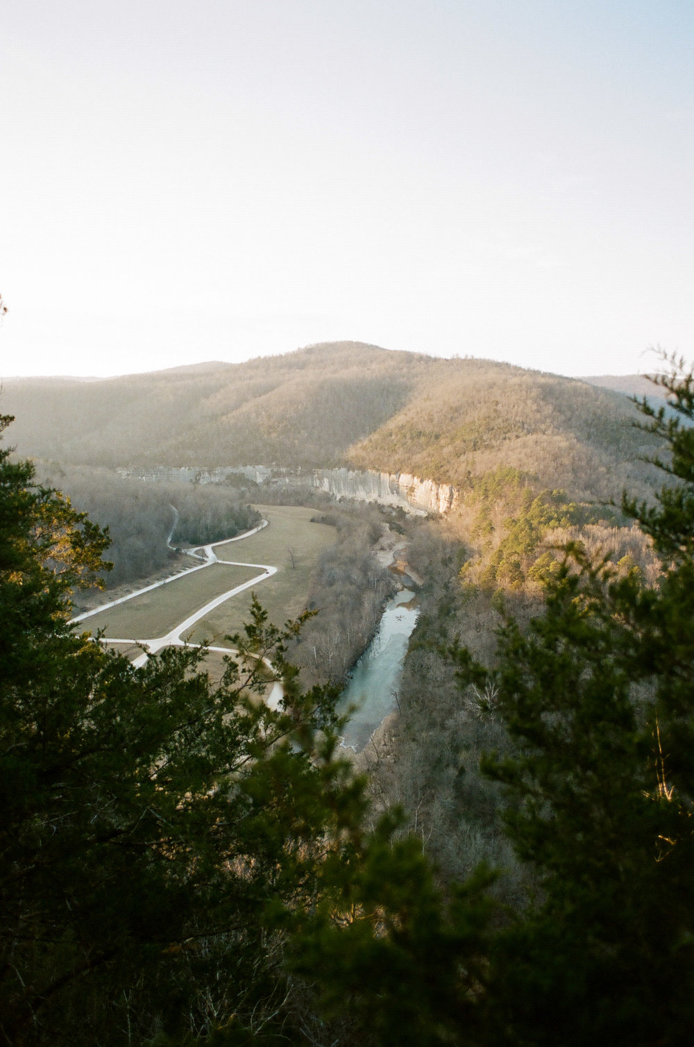 Portra 400 - Canon AE-1 - 24mm 2.8 Over the Steel Creek Campground / Buffalo National River