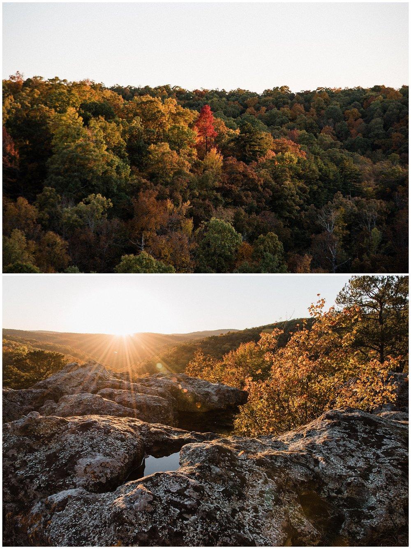 Pedestal Rocks Kings Bluff Sunset Fall Color Tanner Burge Photo