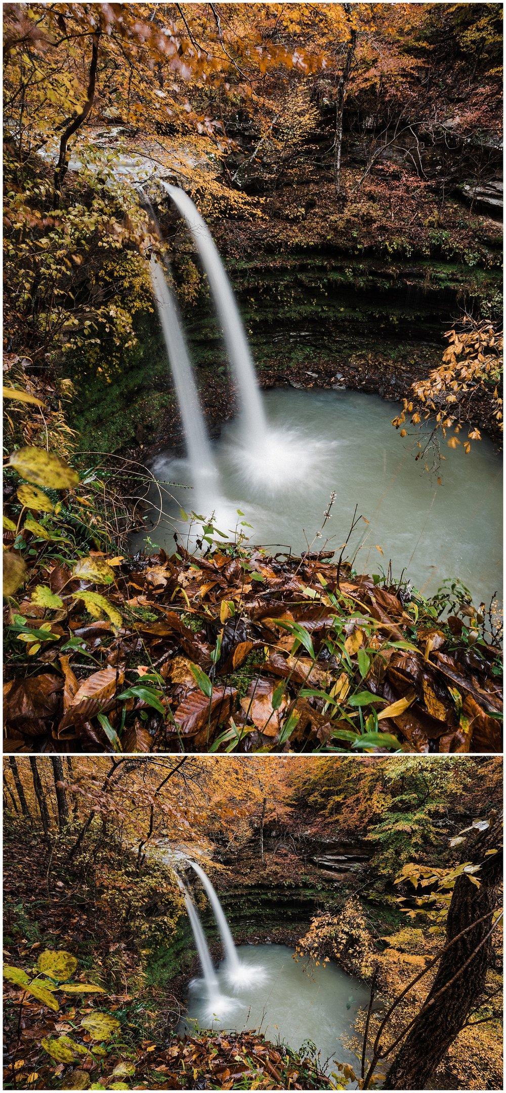Compton's Double Falls Fall Foliage Tanner Burge Photo