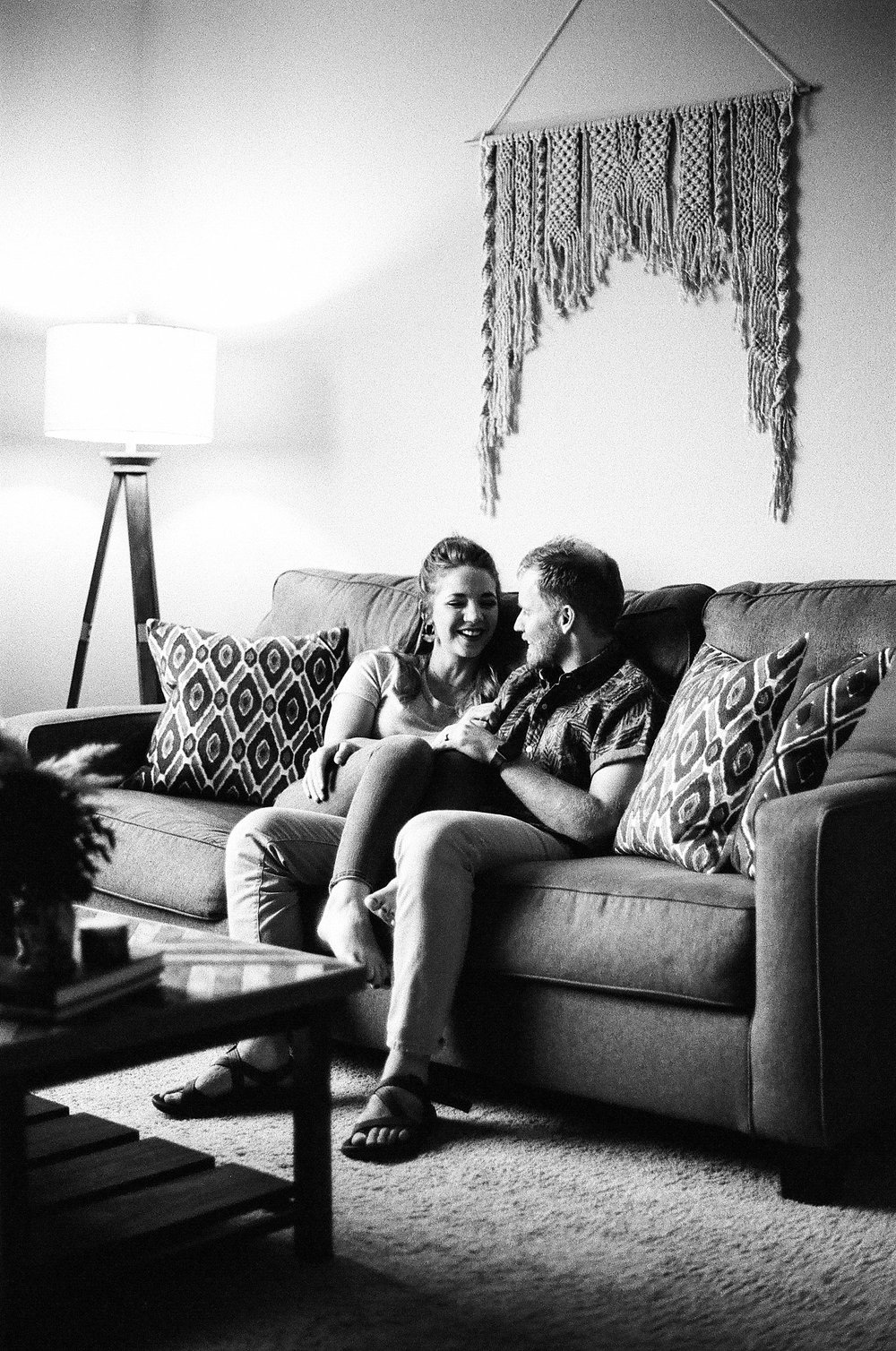 Julia & Travis In Home Session Arkansas Tanner Burge Photography 35mm film