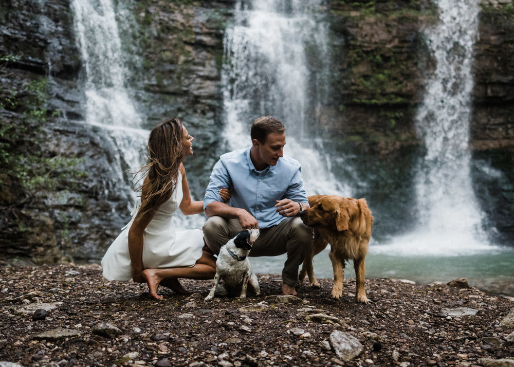 Tanner Burge Photography - Keri & Macauley Waterfall Engagements with pups.jpg