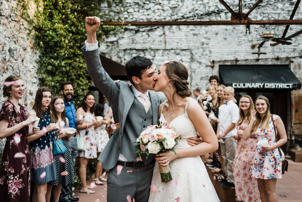 Gram & Hayley Wedding Exit in Hot Springs - Tanner Burge Photography.jpg
