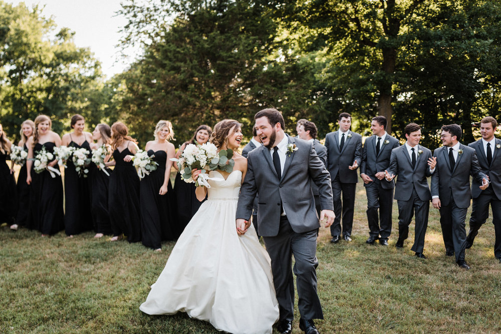 Megan & Blake full wedding party at Sassafras Springs Vineyards Wedding - Tanner Burge Photography.jpg