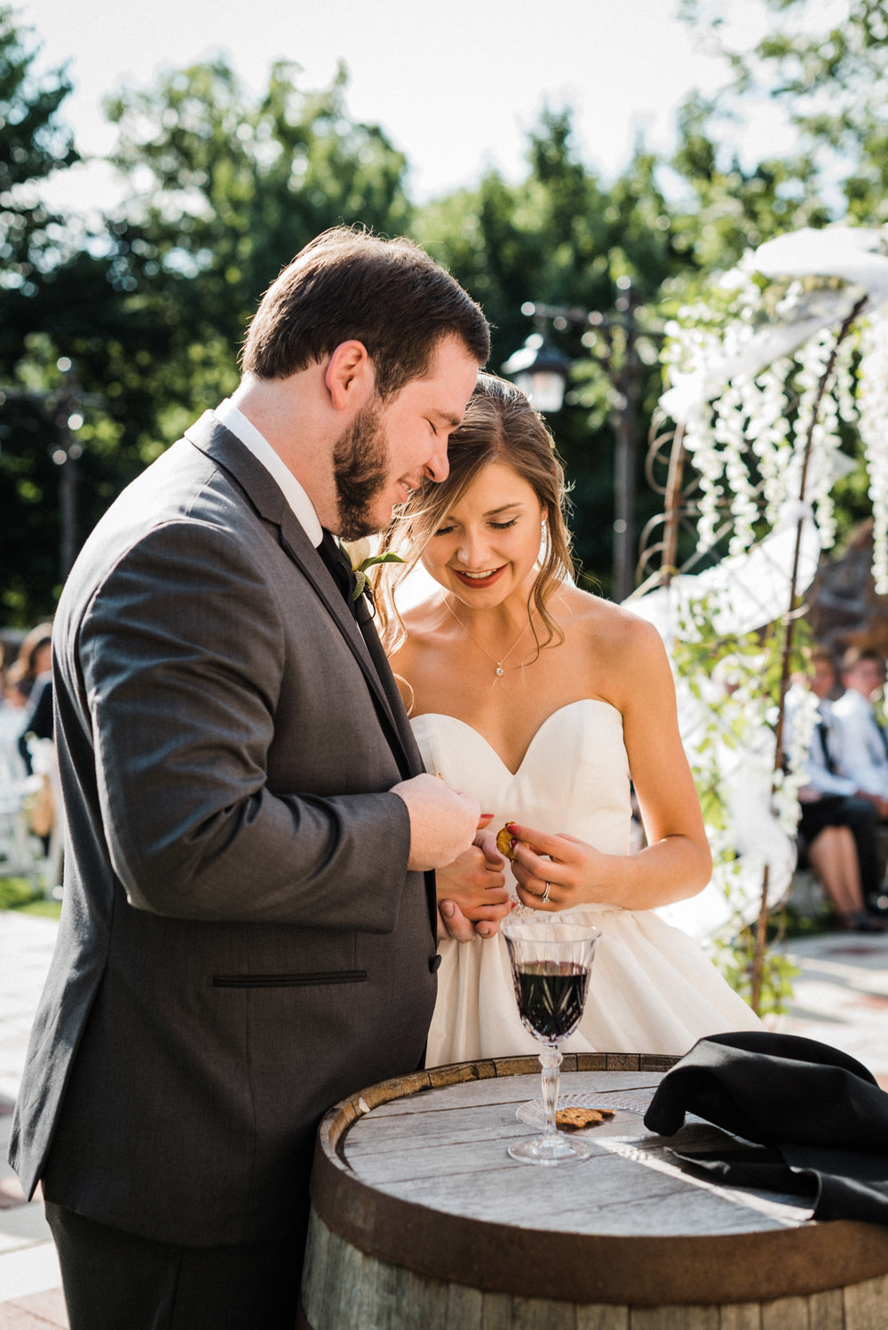 Megan & Blake Communion at Sassafras Springs Vineyards Wedding - Tanner Burge Photography.jpg