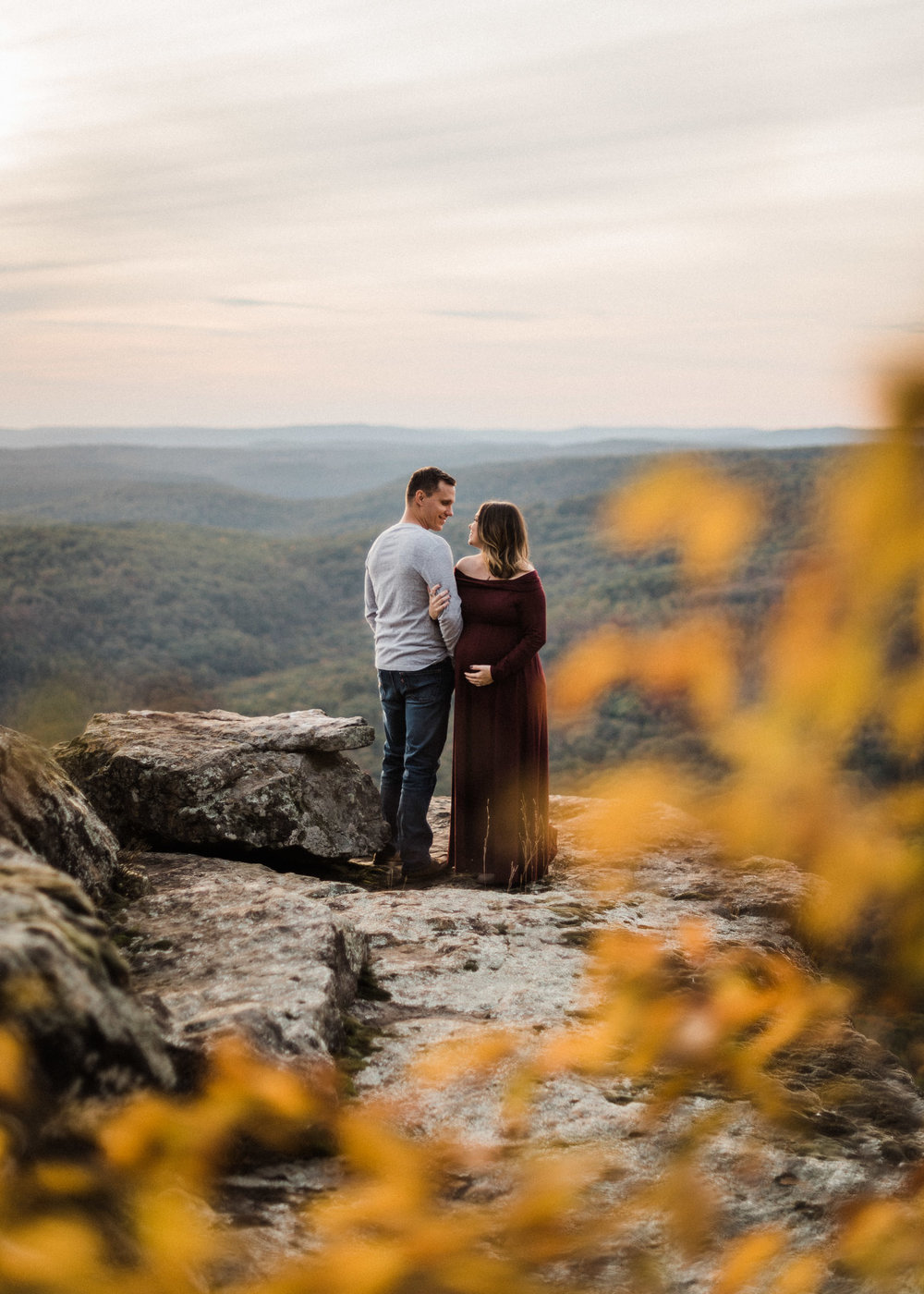 Cassidy & Jeremy White Rock Mountain Maternity - Tanner Burge Photography