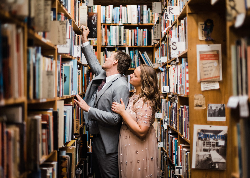 Lukas & Chelsea Fayetteville Dickson Book Shop Engagement Session - Tanner Burge Photography.jpg