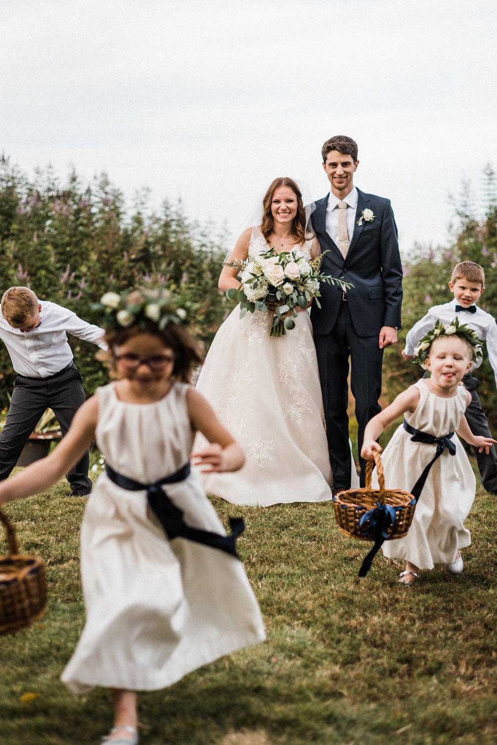 Tanner Burge Photography - Moss Mountain Farms Wedding with Sarah & Colin // Flower Girls and Ring Bearers