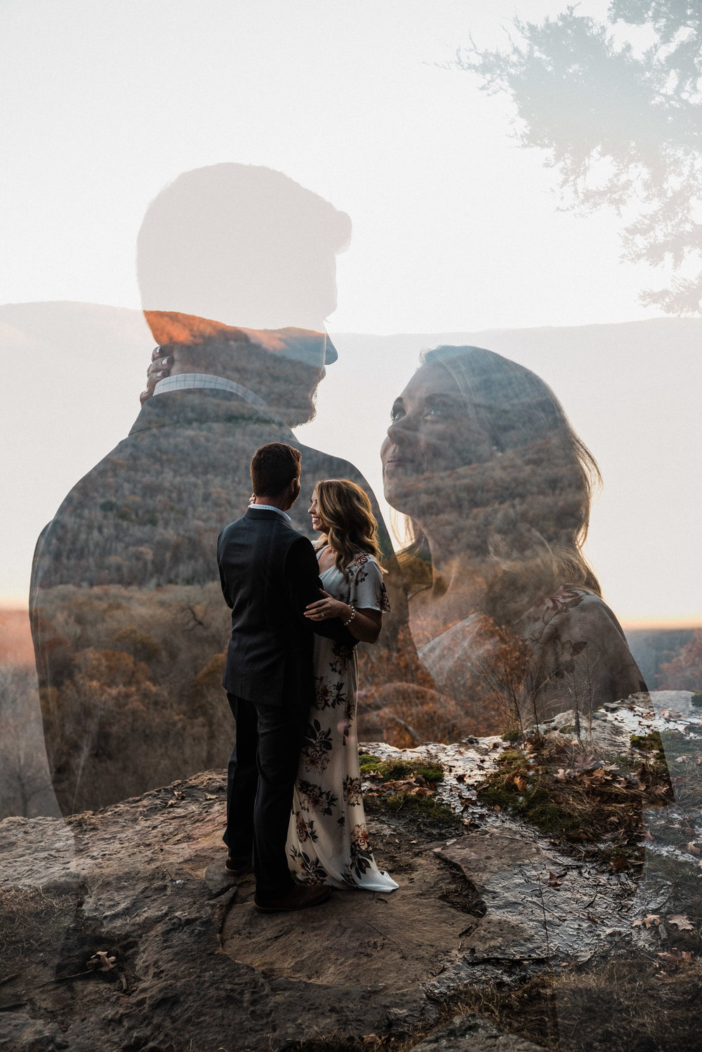 Tanner Burge Photography - Double Exposure Adventure Engagement Session Ozark Mountains Buffalo River with Courtney & Taylor.jpg