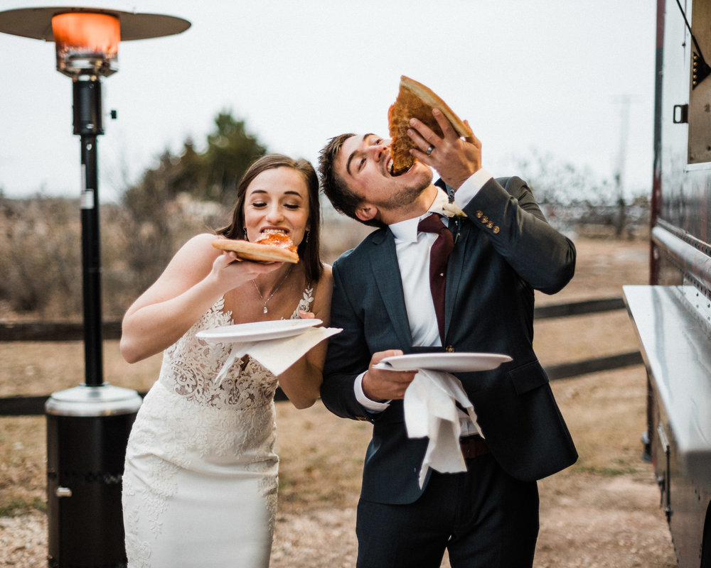 Tanner Burge Photography - Pizza Reception Cara & Kale Winter Wedding at Rosemary Ridge Oklahoma.jpg