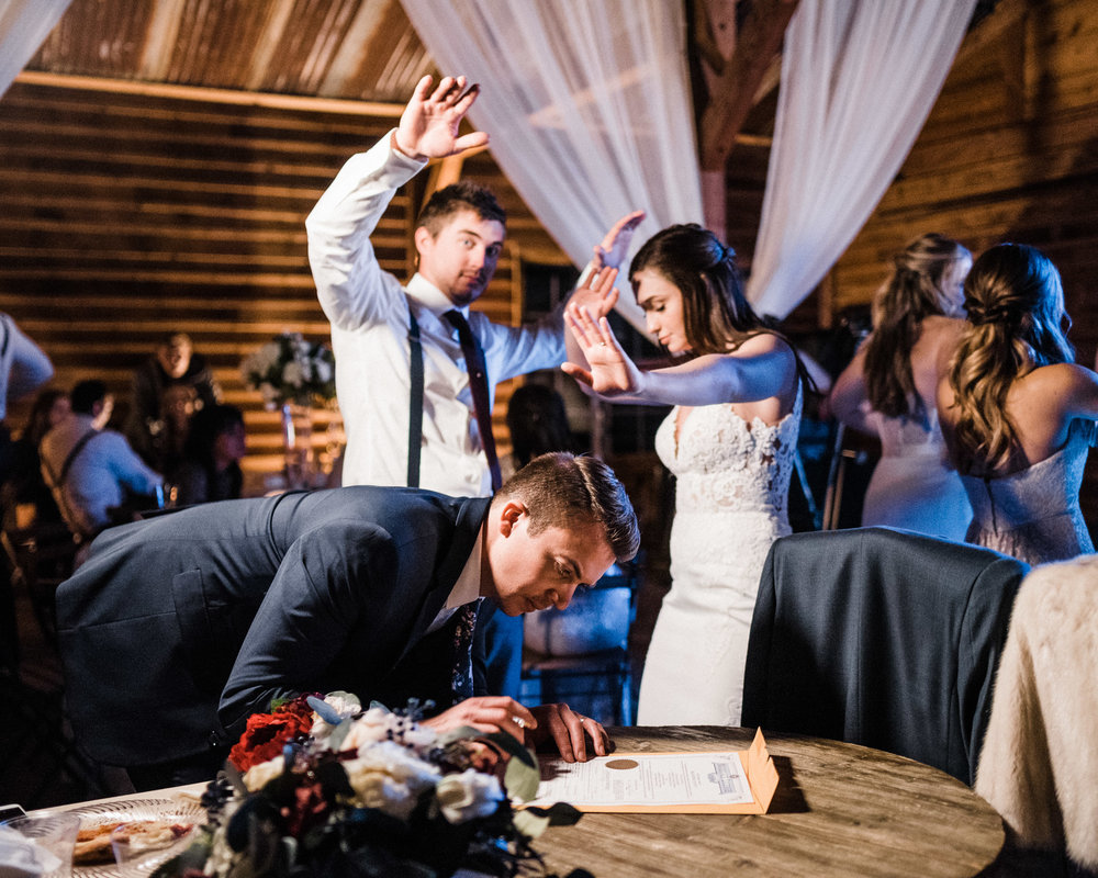 Tanner Burge Photography - Marriage License Reception Cara & Kale Winter Wedding at Rosemary Ridge Oklahoma.jpg