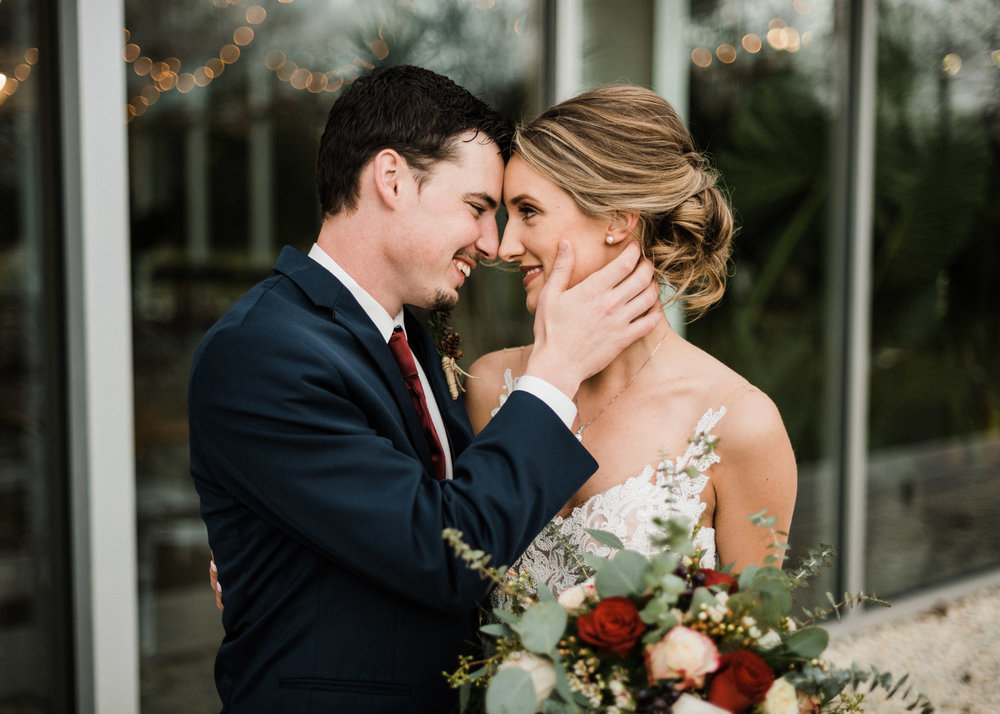 Tanner Burge Photography - Sam & Trevin Winter Greenhouse Wedding at Greenhouse Two Rivers