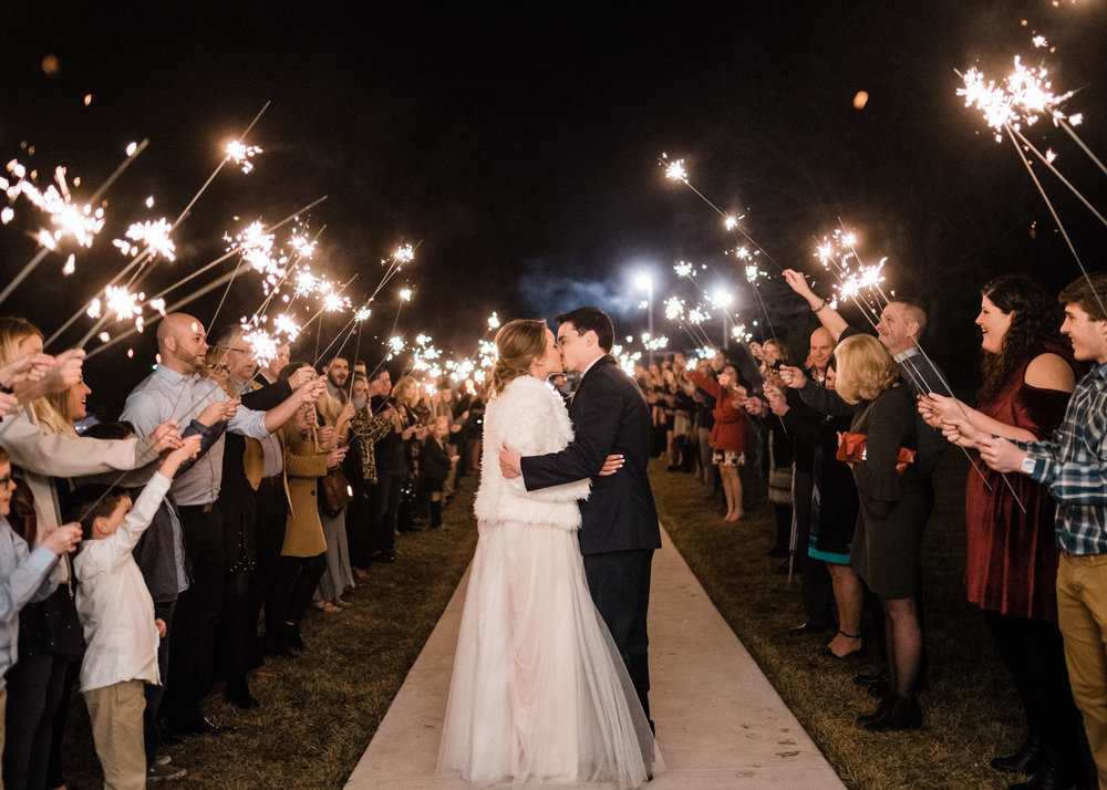Tanner Burge Photography - Sam & Trevin Sparkler Exit Winter Greenhouse Wedding at Greenhouse Two Rivers.jpg