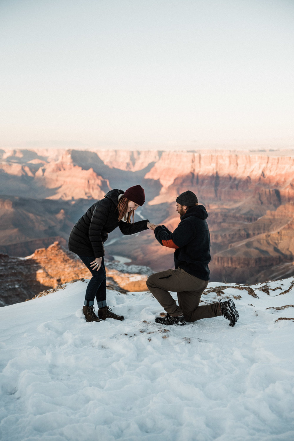 Tanner Burge Photography - Grand Canyon National Park Proposal with Kelly & Austin - Arizona, South Rim