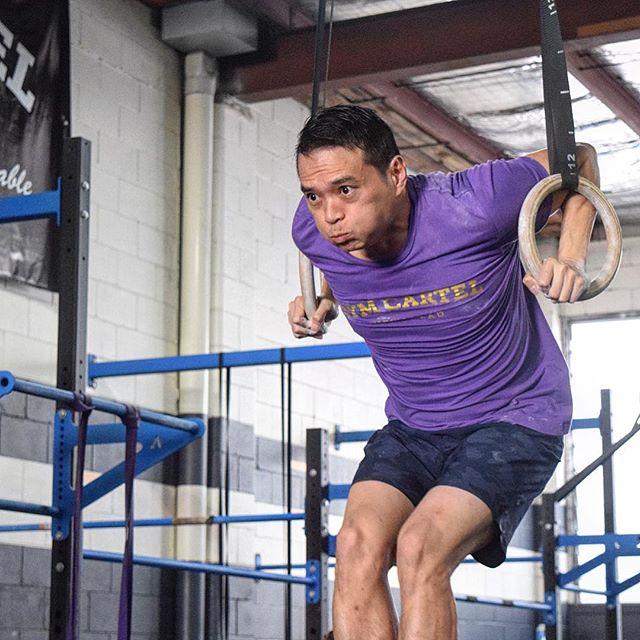 @bigguns72 hard at work during our Saturday morning gymnastics class. ---- #falsegrip #gymnastics #progress #integrity #balance #opportunity #enjoyment #brisbane #gym #fitness