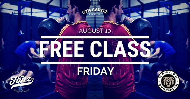 It's that time again! Tomorrow is Free Class Friday. No experience necessary...come in and join us for a workout!