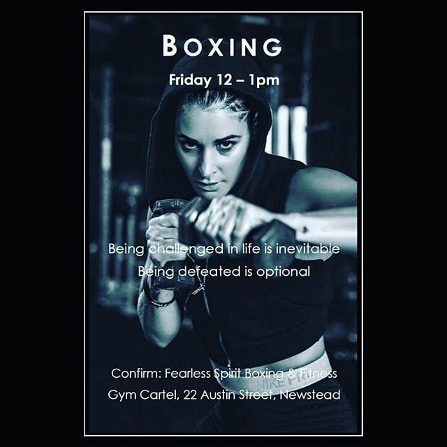 Friday Boxing class...reserve your spot 👊🏼